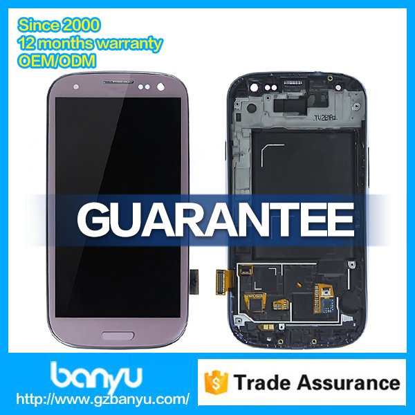 Factory price lcd touch screen replacement for samsung galaxy s3 i9300 lcd