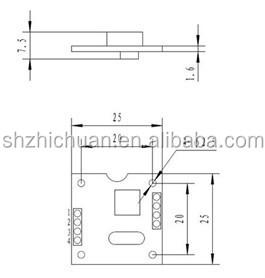 (ZCT1360J-NBQ-17) cheap single axis digital angle tilt sensor for solar tracker