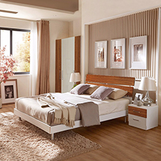 White OAK Nordic modern hotel bedroom furniture wooden furniture model 5-star hotel bedroom set