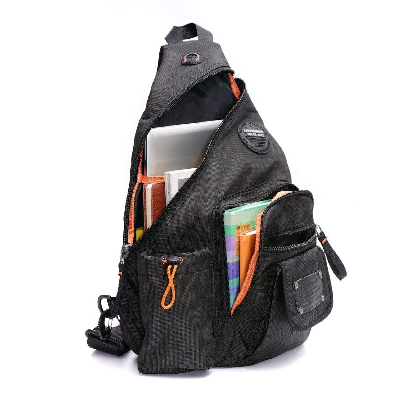 Get Quotations · DDDH 13.3-Inch Sling Bag Riding Hiking Bag Single Shoulder  Backpack For Men Women( 6634314891