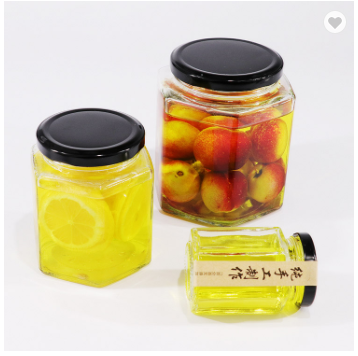 200 ml FDA 식품 storage jar (gorilla glass) jar 대 한 꿀 와 metal clip