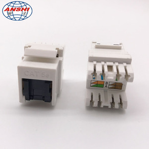 ANSHI CAT5E RJ45 8P8C UTP Jack Keystone Jack with Shuttle