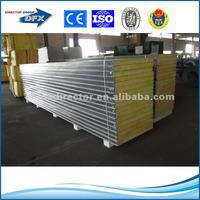 zinc coated color steel circular lightweight prefabricated wall panels