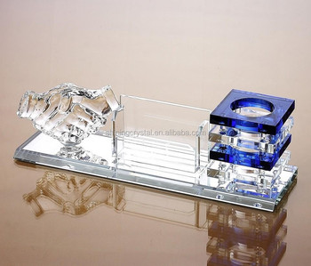 crystal penholder office desk supplies in China