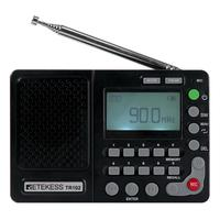 Portable World Band Radio FM AM SW Receiver MP3 Player REC Recorder With Sleep Timer Retekess TR102 V115 updated version