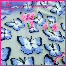 Discount Light Purple Embroidery Butterfly French Lace Organza Tulle Lace Fabric Manufacturer in Guangdong