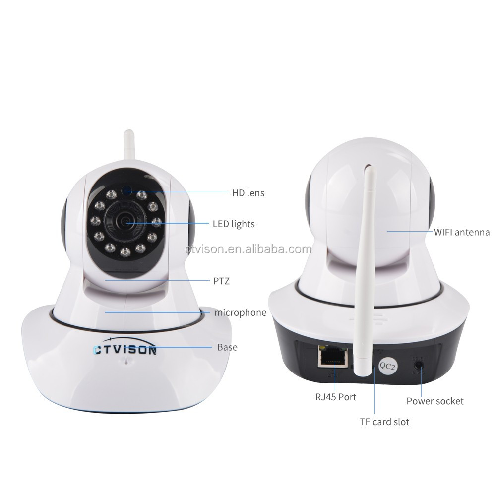 Dome Camera Pan/Tilt/Zoom Wireless infrared IP camera onvif Security Surveillance System 720p HD Night Vision