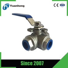 L model Stainless Steel ball Valve 3 Way