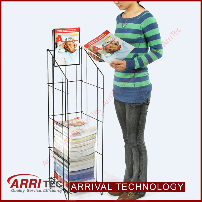metal wire newspaper stand without shelves library newspaper stand