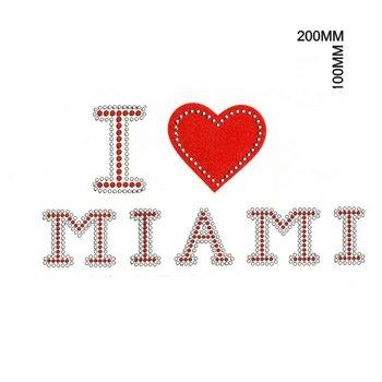 i love miami rhinestone transfer letters buy i love miami