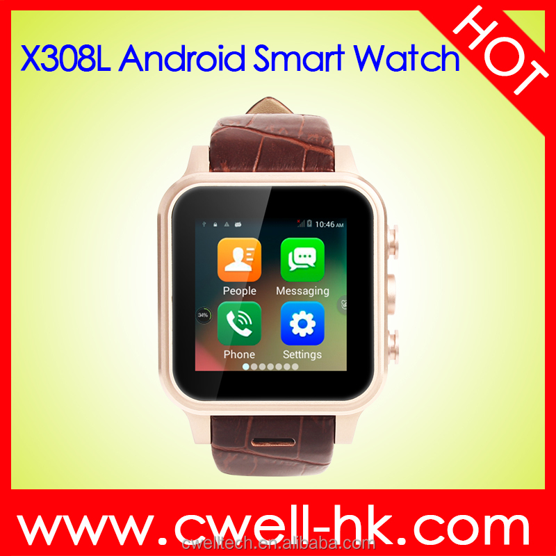 Smart watch 2017 Wholesale 1.54 inch Quad Core 1GB RAM 8GB ROM Smart Watch Android with Leather Band