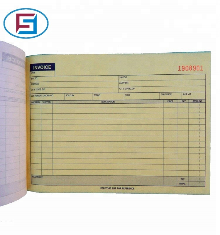Duplicate Carbonless Receipt invoice book ,tax invoice NCR book printing