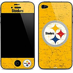 NFL Pittsburgh Steelers iPhone 4&4s Skin - Pittsburgh Steelers - Alternate Distressed Vinyl Decal Skin For Your iPhone 4&4s