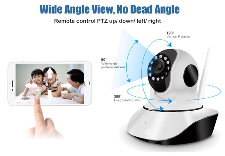 Amazon best selling Home Security Intelligente Baby Monitor Senza Fili 1080P Camhi Mini PTZ del IP di Wifi Della Macchina Fotografica