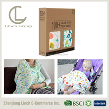 "LC BT-007 47""*47"" Breathable baby muslin blanket , 2 layers of muslin blanket"