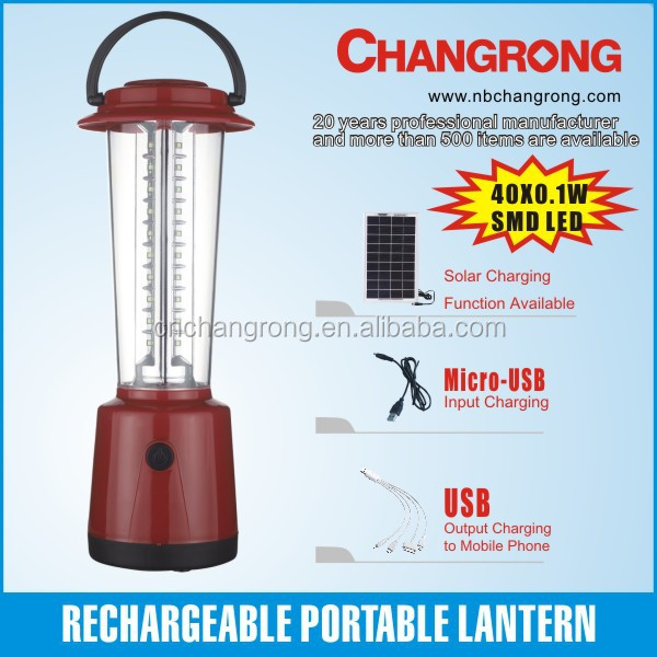 Portable led emergency outdoor working light solar light lantern