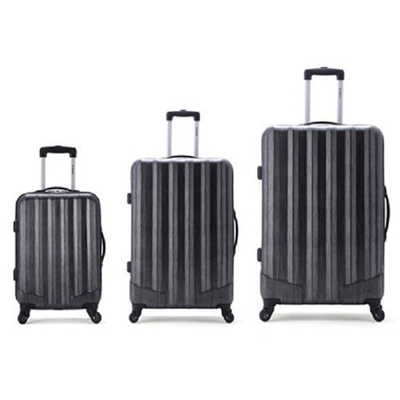 3 Pcs Luggage Travel Set Bag ABS Trolley Suitcase