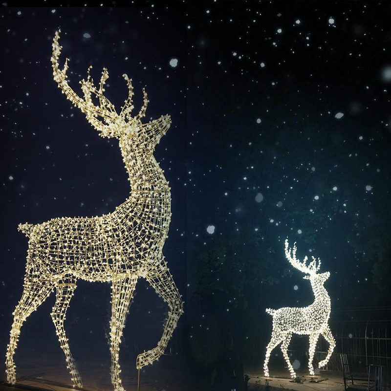 Christmas Reindeer.Giant Led Acrylic Reindeer Motif Light For Outdoor Christmas Decoration Zhongshan Buy Giant Led Reindeer Motif Light Zhongshan Led Reindeer Motif
