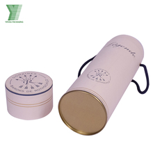 Unique Hat Boxes Packaging Tea Round Gift Tube Box With Custom Printed