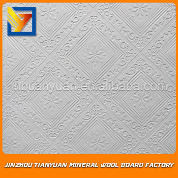 60x60 Vinyl Coated Gypsum Board Ceiling Tiles