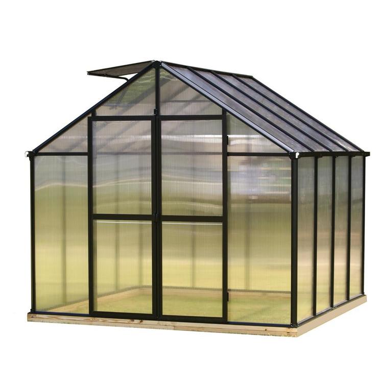 Lanyu Waterproof Polycarbonate Garden Greenhouse , Sunshade with Aluminium green house