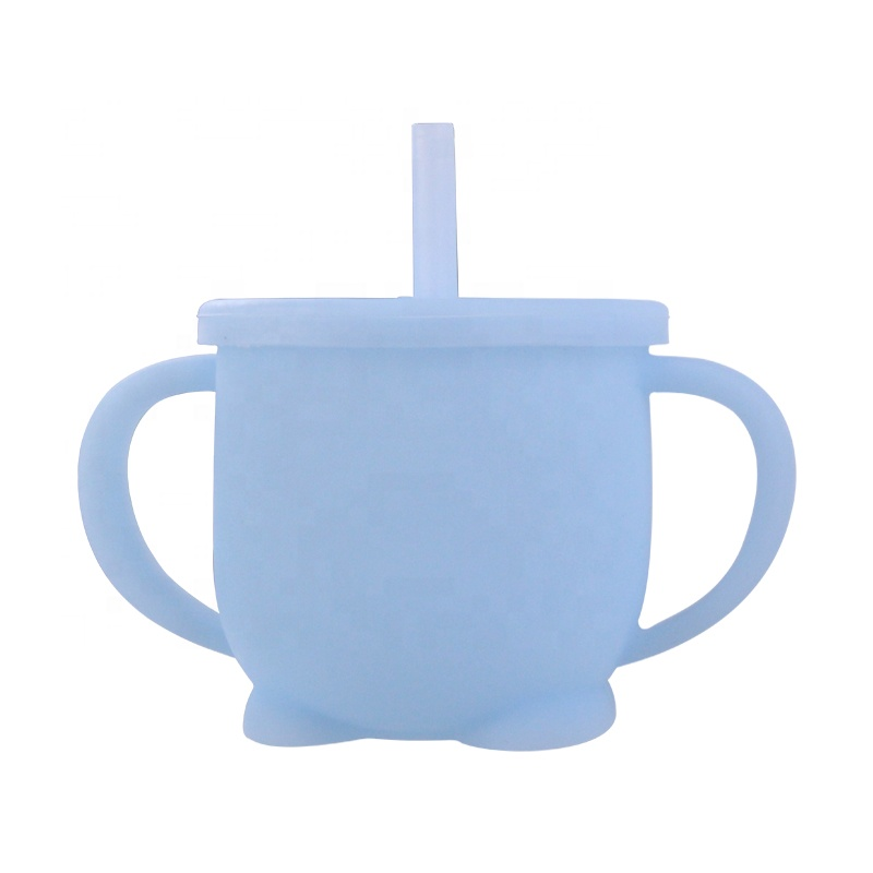 Infant Training Sippy Cup Eco Friendly Healthy Silicone Baby Cup