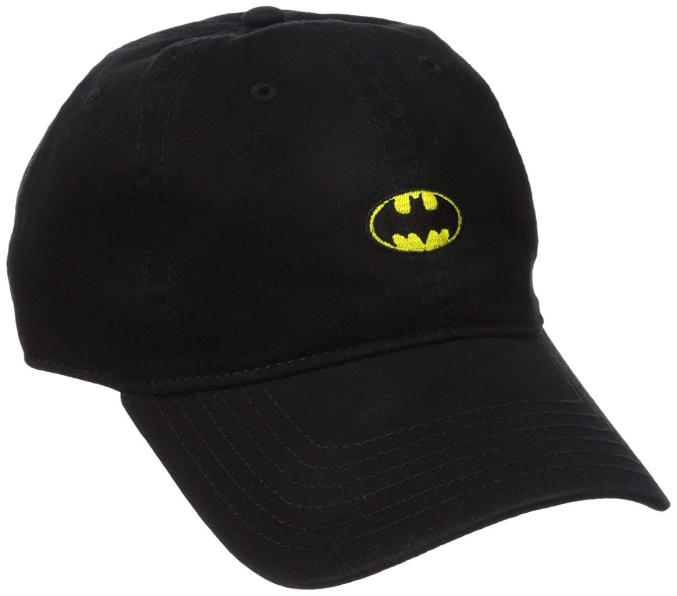 detailed look 3a10d ba904 Get Quotations · Batman Men s Washed Twill Baseball Cap