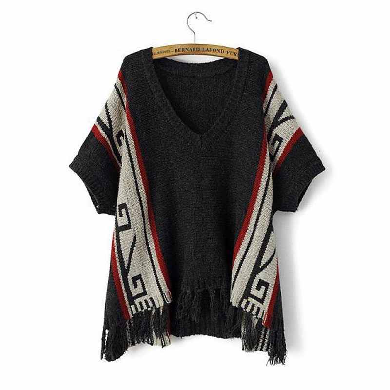 Autumn Winter Pullover Sweater for Women Batwing Sleeve Casual Sweaters and Pullovers 2015 Brand New Fashion Tassel Sweaters