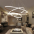 large white wrought iron contemporary circular led chandelier pendant light