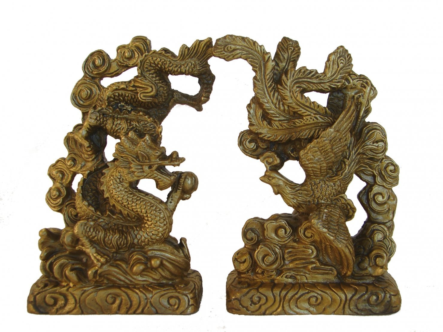 Buy Brass Feng Shui Dragon Phoenix Statue Symbol Of Love In Cheap