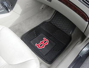 "Fanmats Boston Red Sox Heavy Duty 2-Piece Vinyl Car Mats 18""x27"""
