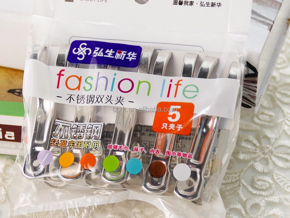 Durable stainless steel metal pegs for clothes