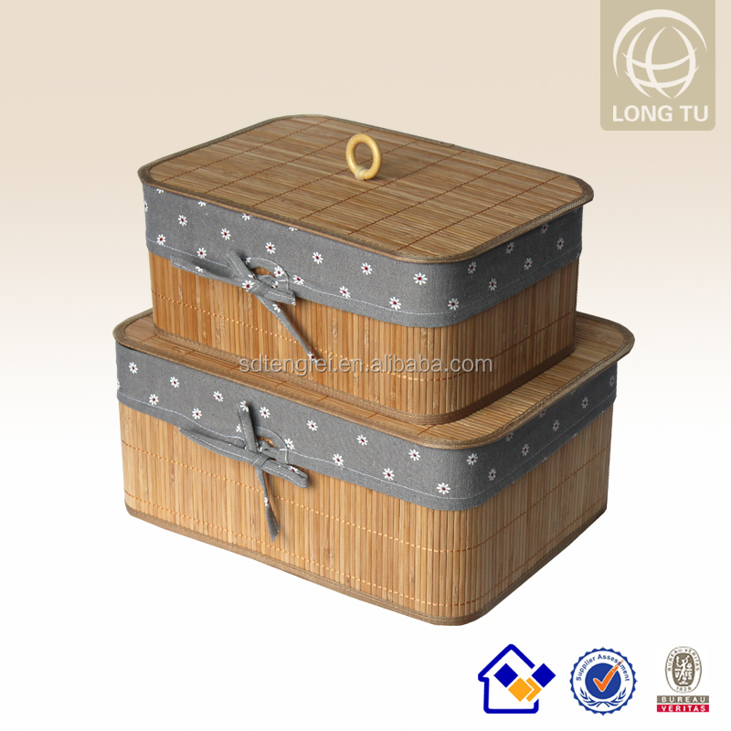 2015 PU Connectiona and Cosy Bamboo Folding Laundry Hamper/bamboo foldable storage baskets with liners
