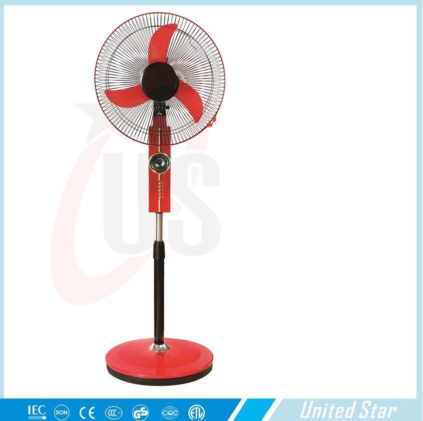 Hot Sell 3 Pp Blade 12 Volt Solar Dc Stand Fan With Led