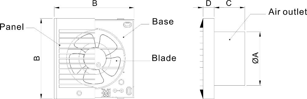 Powerful small fan extractor fan for bathroom ventilator tube 100mm buy ventilator tube fan Most powerful bathroom extractor fan