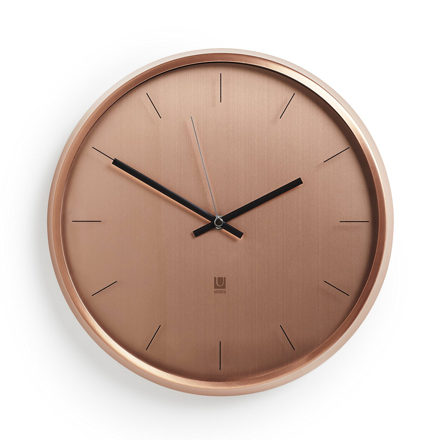 Umbra Meta Wall Clock, Copper