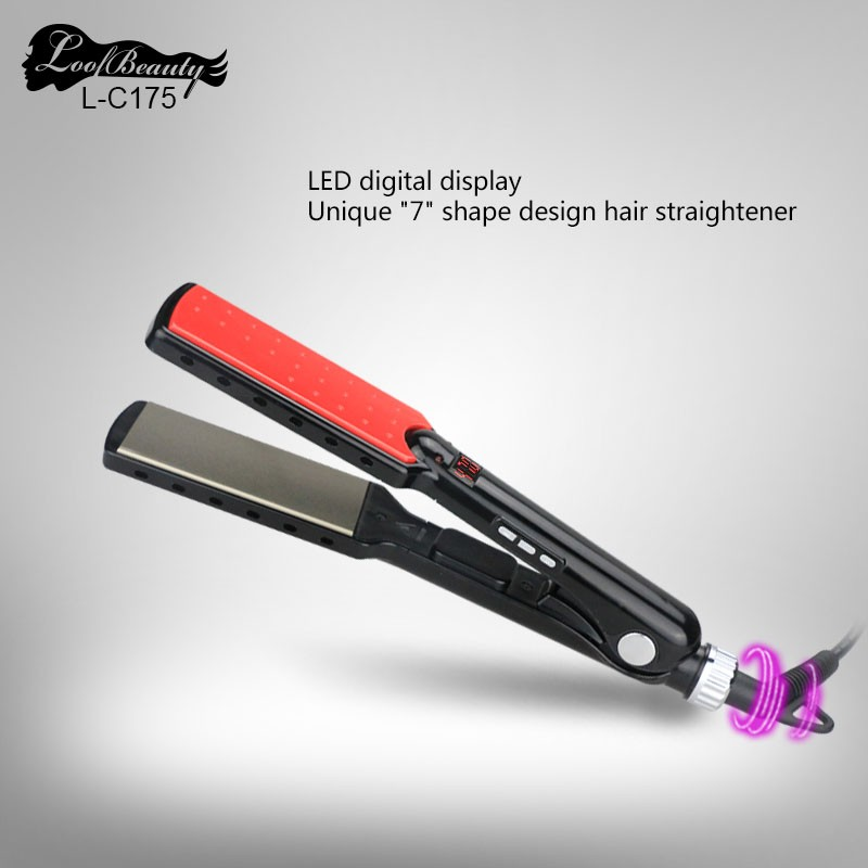 Professional Titanium Fast Heat Up High Temperature Hiar Straightening Iron L-C175