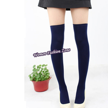 2016 Winter New Fashion Over The Knee Socks Thigh High Stockings Women Sexy Cotton Thinner Stocking