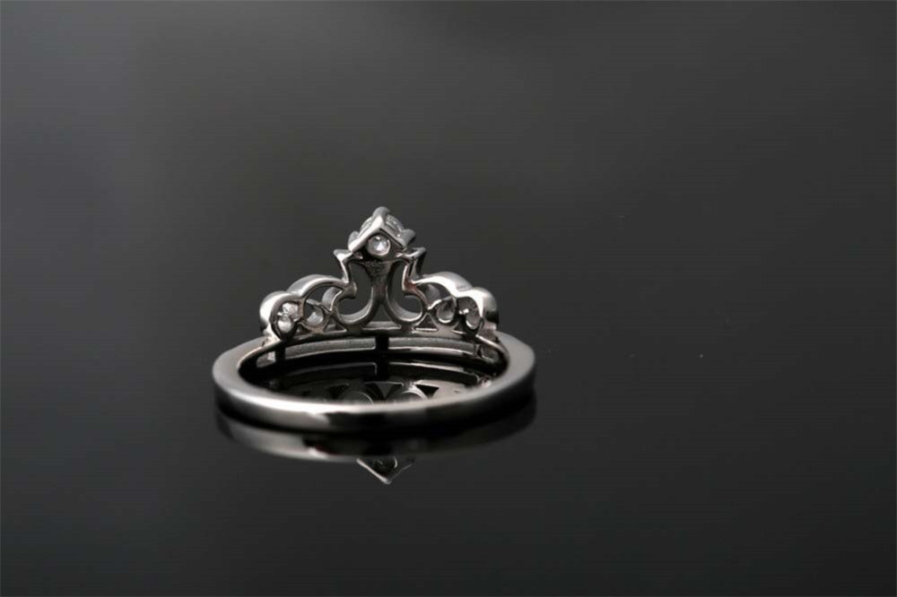 Sterling Silver Crown Ring Fashion Jewelry Ring Popular Rings