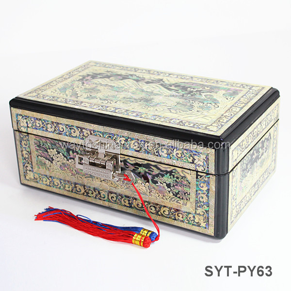 High end handmade fancy mother of pearl jewelry box