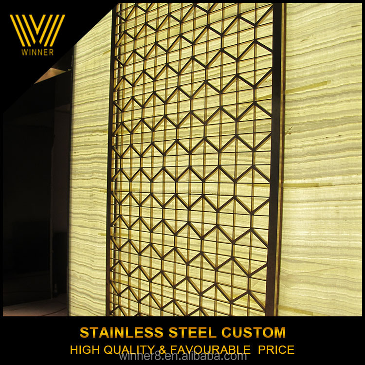 unique customized Indoor Stainless Steel 304 Metal Indian Folding Screen