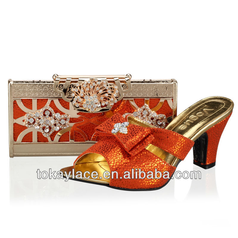 pumps for heel high orange woman italian shoe ladies bag high quality matching and q1aax6nR