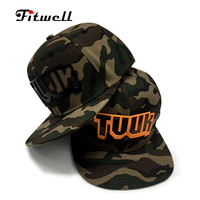 Camouflage Hat 6 panel Custom hats camo snapback caps with 3d high frequency logo Fashion hats wholesale custom snapback cap