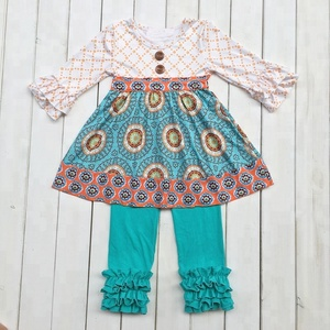 Fashion brand remake kids clothing sets cotton Persnickety Girl Fall winter outfits