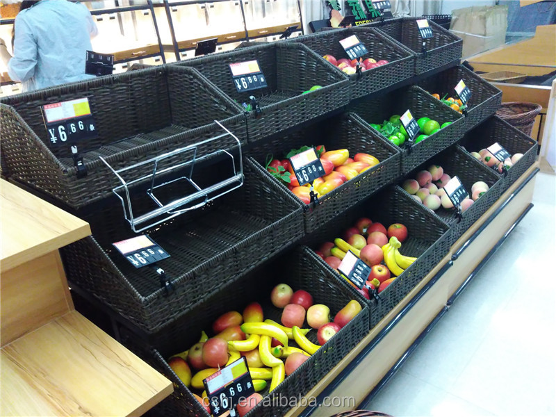 two by tier rack basket metal fruit produce tiered uk wire