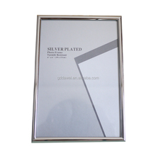 5x7 silver plated display stand photo frame