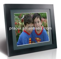 2012 Hot sale 12 inch Wooden Digital Photo Frames,super slim ,high-Brightness screen,Movie/Music, calender and alarm,cheap price