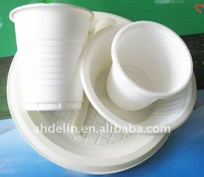 FDA, SGS/ DLP-02 Biodegradable disposable corn starch dinner set