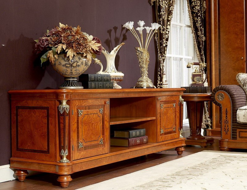 0029 italiaanse klassieke houten woonkamer meubels luxe for Houten meubels woonkamer