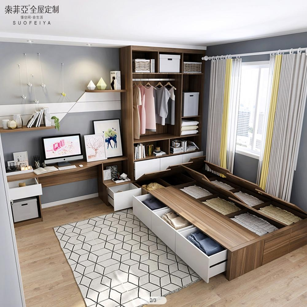 Suofeiya Hot Seller Customized Modern Style Bedroom Furniture Tatami  Storage Bed - Buy Lift Storage Bed,Tatami Bed,Storage Bed Wooden Product on